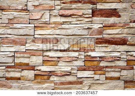 Photo background macro beautiful stone masonry walls