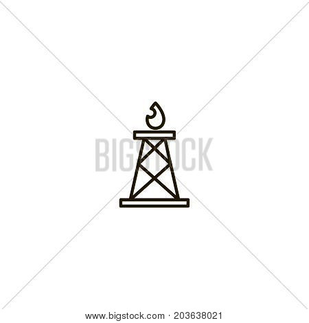 Gas flat icon. Single high quality symbol of line tower vector for web design or mobile app. Color sign of energy for design logo. Single pictogram on white background