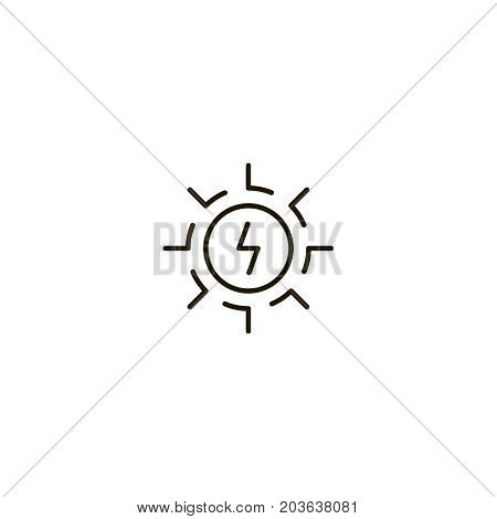 Sun flat icon. Single high quality symbol of line light vector for web design or mobile app. Color sign of energy for design logo. Single pictogram on white background