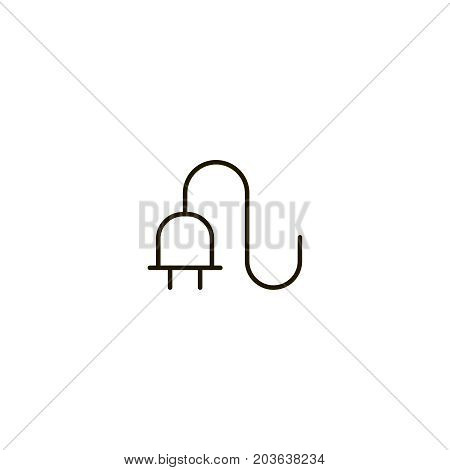 Outlet flat icon. Single high quality symbol of line electricity vector for web design or mobile app. Color sign of energy for design logo. Single pictogram on white background