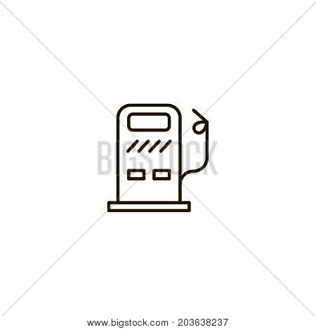 Gas flat icon. Single high quality symbol of line dressing vector for web design or mobile app. Color sign of energy for design logo. Single pictogram on white background