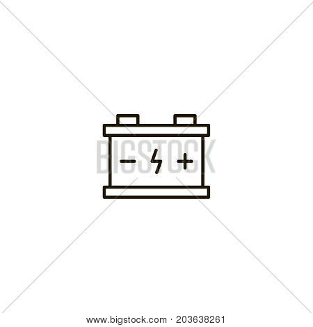 Battery flat icon. Single high quality symbol of line electricity vector for web design or mobile app. Color sign of energy for design logo. Single pictogram on white background