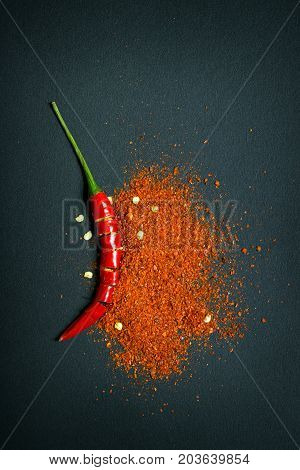 Red Chili Pepper And Chili Flakes
