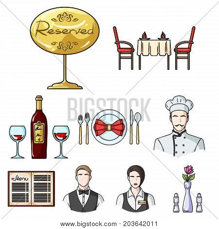 Restaurant set icons in cartoon design. Big collection of restaurant vector symbol stock illustration