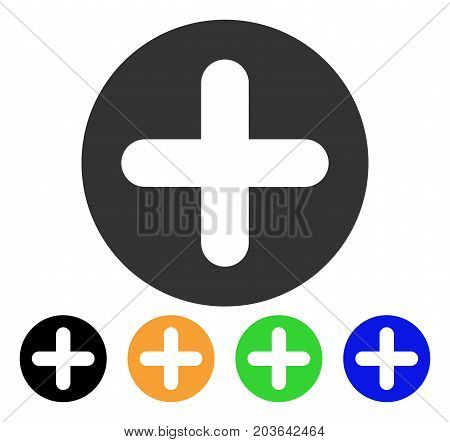 Create icon. Vector illustration style is a flat iconic create symbol with black, grey, green, blue, yellow color versions. Designed for web and software interfaces.