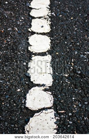 Asphalt Texture Road With Old Marking Line. Outdoor.