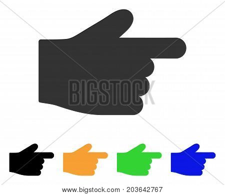 Index Finger icon. Vector illustration style is a flat iconic index finger symbol with black, grey, green, blue, yellow color versions. Designed for web and software interfaces.