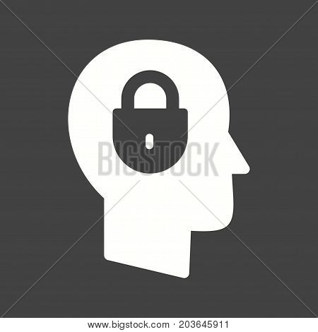 Security, computer, confidentiality icon vector image. Can also be used for IT Services. Suitable for use on web apps, mobile apps and print media.