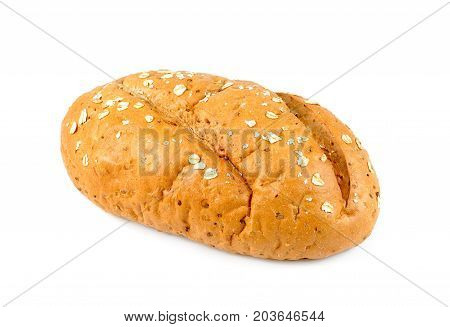 freshly baked bread isolated on white background Loaf of bread isolated traditional french bread on white