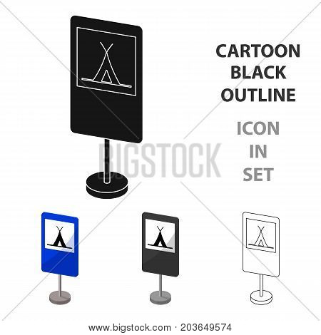 Guide road sign icon in cartoon design isolated on white background. Road signs symbol stock vector illustration.