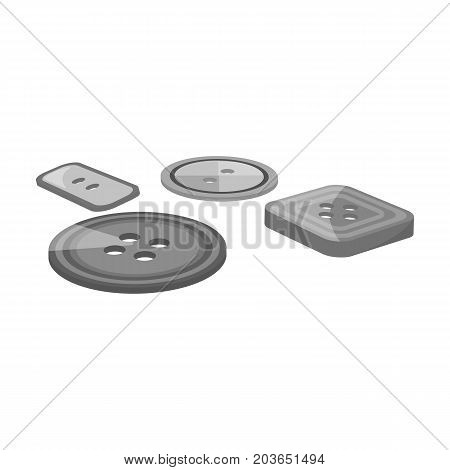 Multicolored buttons for sewing. Sewing and equipment single icon in monochrome style vector symbol stock illustration .