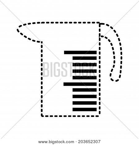 Measuring Jug Sticker  Vector Illustration