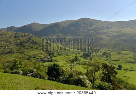 Troutbeck Valley in the  English Lake District