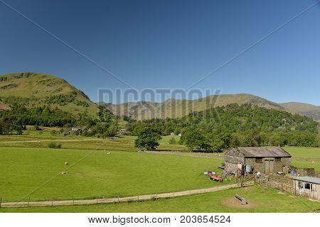 Farm at head of Ullswater, English Lake District