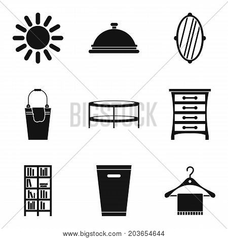Weekend cleaning day icon set. Simple set of 9 weekend cleaning day vector icons for web design isolated on white background