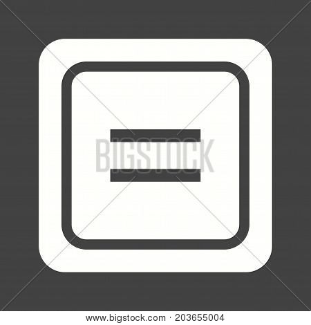 Equal, plus, less icon vector image. Can also be used for Math Symbols. Suitable for mobile apps, web apps and print media.