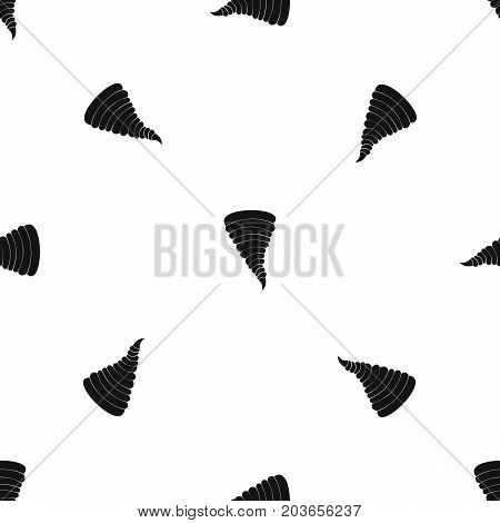 Tornado pattern repeat seamless in black color for any design. Vector geometric illustration