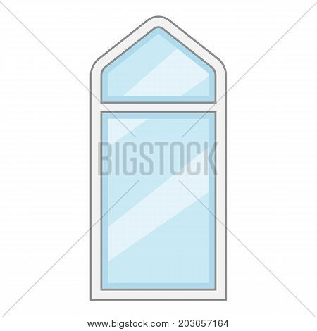 Rectangle window frame icon. Cartoon illustration of rectangle window frame vector icon for web
