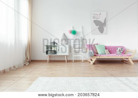 Bright Kid Room With Colorful Pillows
