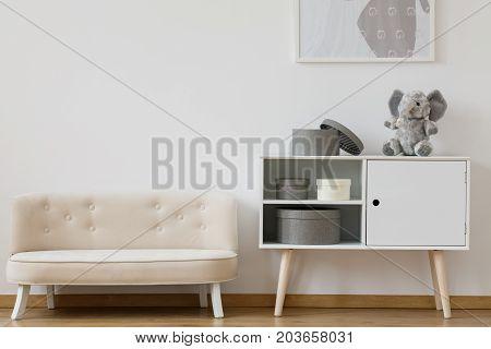 Designed White Sofa