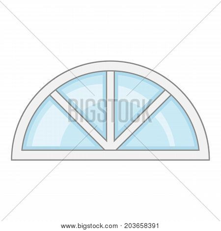 Roof window frame icon. Cartoon illustration of roof window frame vector icon for web