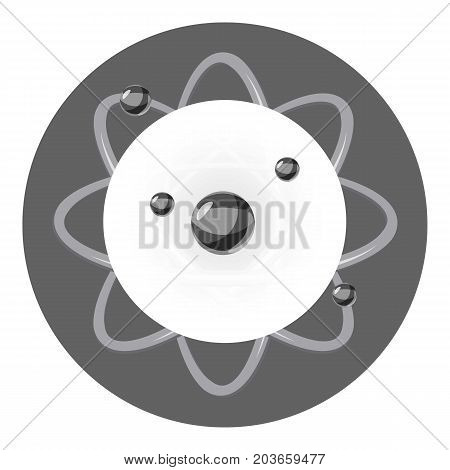 Atom icon. Cartoon illustration of atom vector icon for web