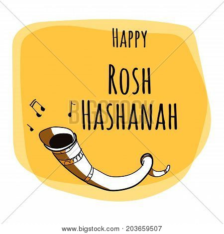 Rosh Hashana - jewish new year - vector greeting card set design with hand drawing elements