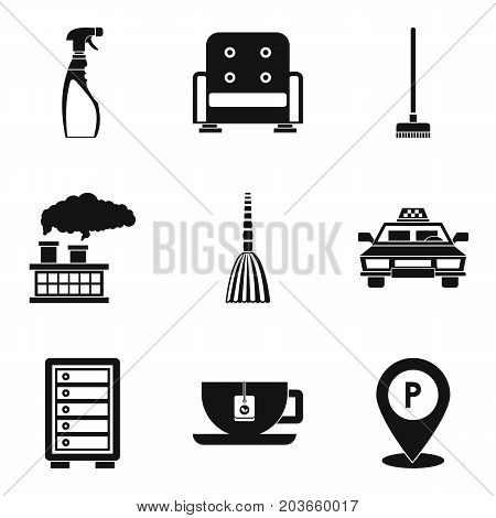 General cleaning day icon set. Simple set of 9 general cleaning day vector icons for web design isolated on white background