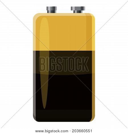 Electric battery icon. Cartoon illustration of electric battery vector icon for web