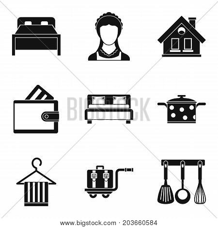 Housewife icon set. Simple set of 9 housewife vector icons for web design isolated on white background