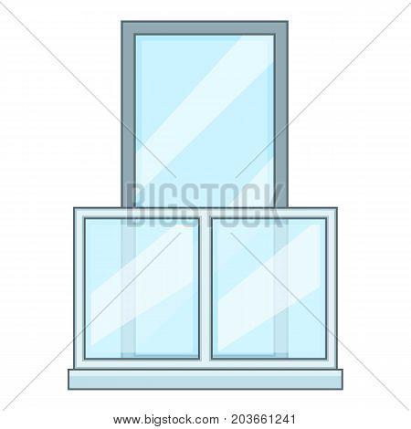 Balcony icon. Cartoon illustration of balcony vector icon for web
