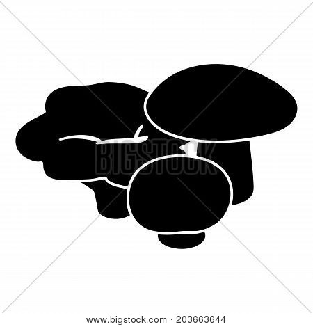 Mushrooms icon. Simple illustration of mushrooms vector icon for web design isolated on white background