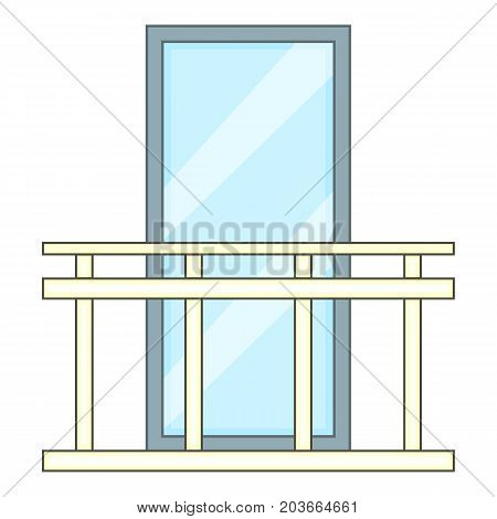 Retro balcony icon. Cartoon illustration of retro balcony vector icon for web