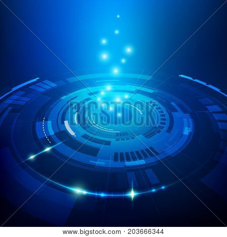 abstract futuristic background, concept of technological advancement