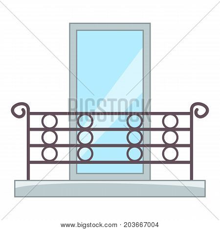 Beautiful balcony icon. Cartoon illustration of beautiful balcony vector icon for web