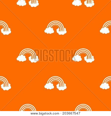 Rainbow LGBT pattern repeat seamless in orange color for any design. Vector geometric illustration