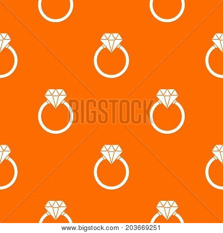 Ring LGBT pattern repeat seamless in orange color for any design. Vector geometric illustration