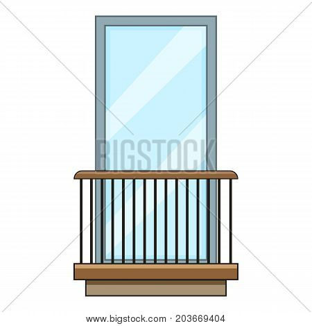 Rail balcony icon. Cartoon illustration of rail balcony vector icon for web