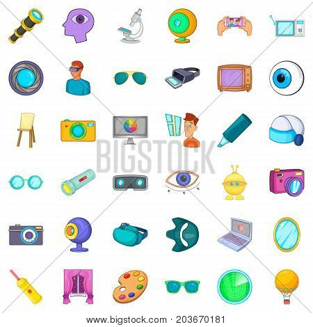 Eyesight icons set. Cartoon style of 36 eyesight vector icons for web isolated on white background