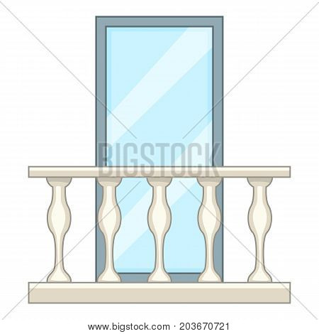 Decorative balcony icon. Cartoon illustration of decorative balcony vector icon for web