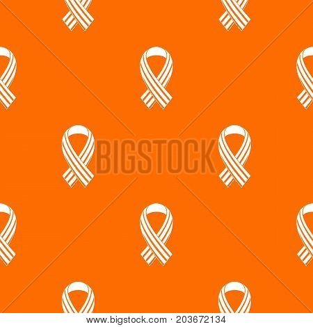 Ribbon LGBT pattern repeat seamless in orange color for any design. Vector geometric illustration