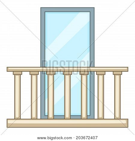 Concrete balcony icon. Cartoon illustration of concrete balcony vector icon for web
