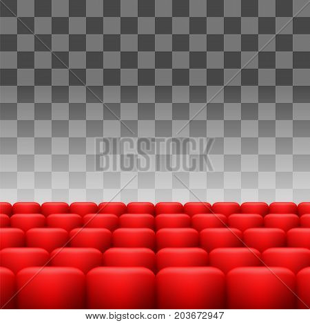 Luxury Red Seats Isolated on Checkered Background