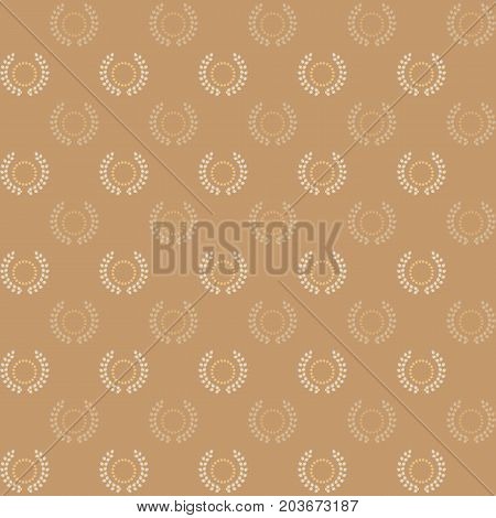 Circle stars and laurel wreath pattern background stock vector