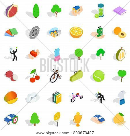 Urgent icons set. Isometric style of 36 urgent vector icons for web isolated on white background