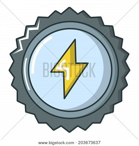 Energy drink cap icon. Cartoon illustration of energy drink cap vector icon for web