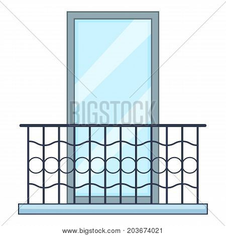 Big balcony icon. Cartoon illustration of big balcony vector icon for web
