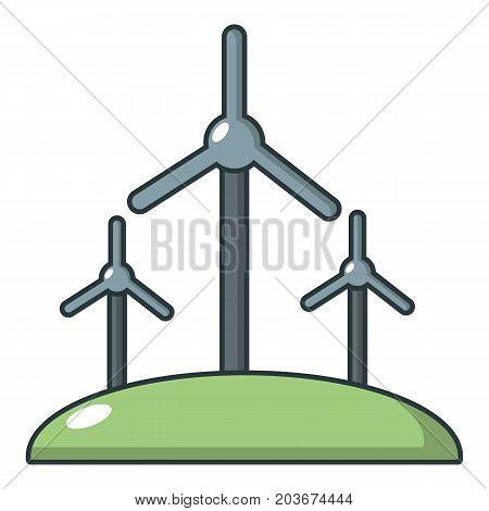 Windmill icon. Cartoon illustration of windmill vector icon for web