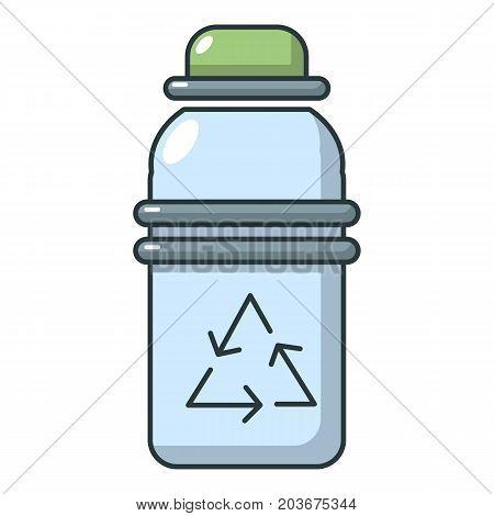 Purified water drink bottle icon. Cartoon illustration of purified water bottle vector icon for web
