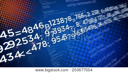Computer programming code and technology concept. Big data and software abstract background.